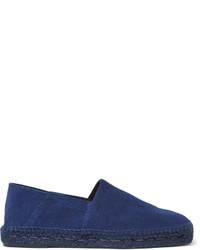 Espadrilles en daim bleu marine Tom Ford