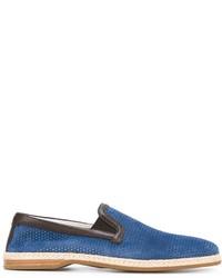 Espadrilles en daim bleues Dolce & Gabbana