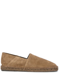 Espadrilles en daim marron clair Tom Ford