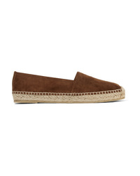 Espadrilles en daim marron Saint Laurent