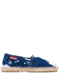 Espadrilles en denim bleu marine DSQUARED2