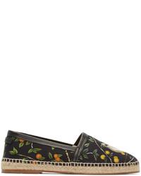 Espadrilles en toile noires Dolce & Gabbana