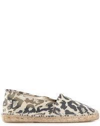 Espadrilles imprimées léopard beiges