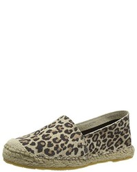 Espadrilles imprimées léopard marron clair Selected Femme