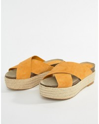 Espadrilles orange Mango