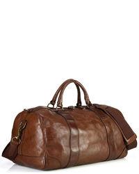 Fourre-tout en cuir brun