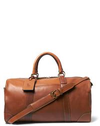 Fourre-tout en cuir marron Polo Ralph Lauren