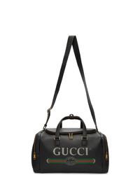 Fourre-tout en cuir noir Gucci