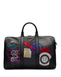 Fourre-tout en toile noir Gucci