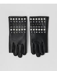 Gants en cuir à clous noirs ASOS DESIGN