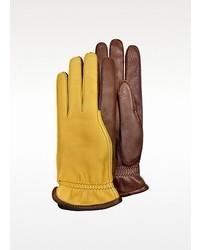 Gants en cuir jaunes