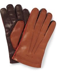 Gants en cuir marron Etro
