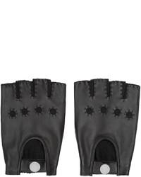 Gants en cuir noir Marc by Marc Jacobs