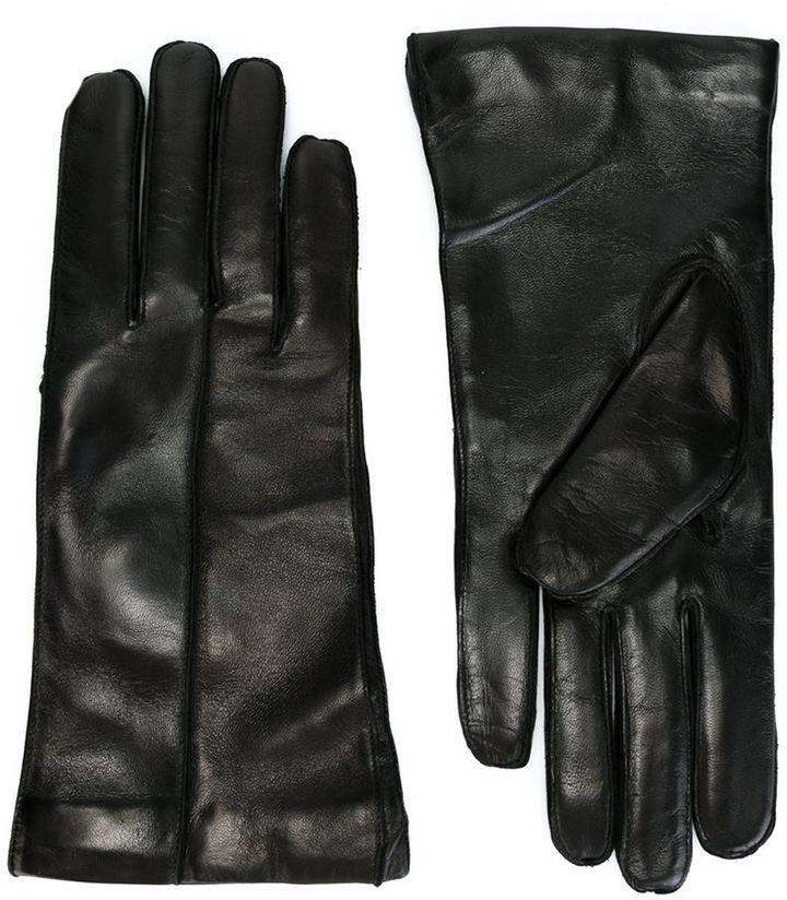 Gants en cuir noirs Ann Demeulemeester