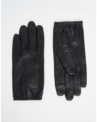 Gants en cuir noirs Asos