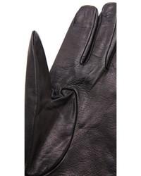 Gants en cuir noirs Carolina Amato
