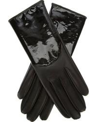 Gants en cuir noirs Giorgio Armani