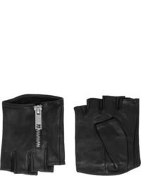 Gants en cuir noirs Karl Lagerfeld