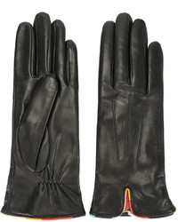 Gants en cuir noirs Paul Smith