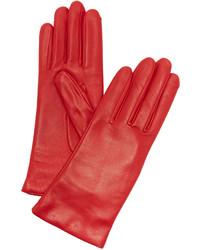 Gants en cuir rouges Agnelle