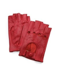 Gants en cuir rouges Carolina Amato