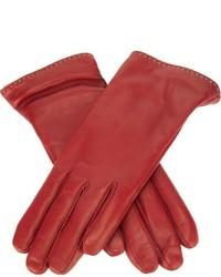 Gants en cuir rouges P.A.R.O.S.H.