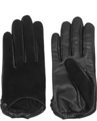 Gants en daim noirs Givenchy