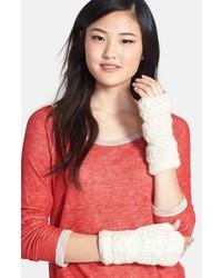 Gants en laine blancs