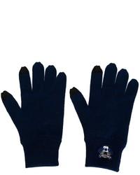 Gants en laine bleu marine Kenzo