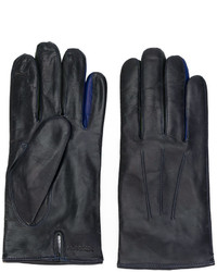 Gants en laine bleu marine Paul Smith