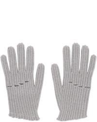 Gants en laine en tricot gris