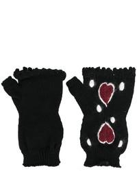 Gants en laine en tricot noirs I'M Isola Marras