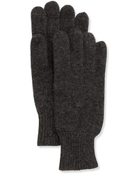 Gants en laine gris foncé