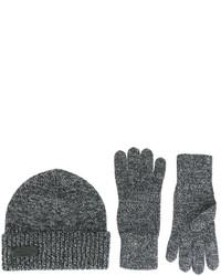 Gants en laine gris foncé DSQUARED2