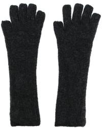 Gants en laine gris foncé Isabel Benenato