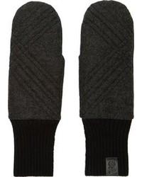 Gants en laine gris foncé Y-3