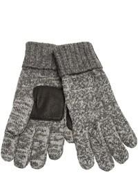 Gants en laine gris