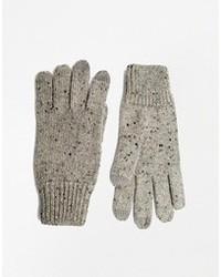 Gants en laine gris Asos