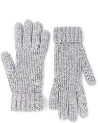 Gants en laine gris DSquared