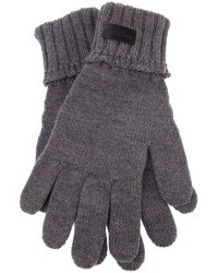 Gants en laine gris Saint Laurent