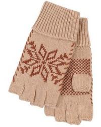 Gants en laine marron clair