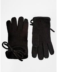 Gants en laine noirs Asos