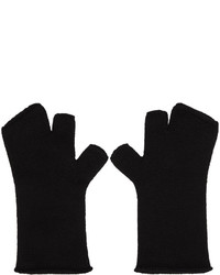 Gants en laine noirs Attachment