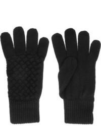 Gants en laine noirs Bottega Veneta