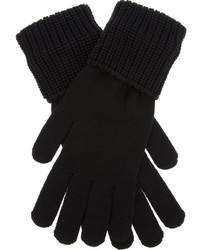 Gants en laine noirs Givenchy