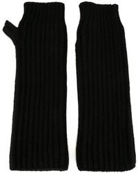 Gants en laine noirs Marni