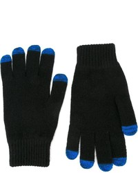 Gants en laine noirs Paul Smith