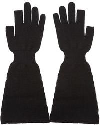 Gants en laine noirs Rick Owens