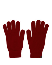 Gants en laine rouges Ps By Paul Smith