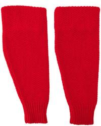 Gants en laine rouges Raf Simons